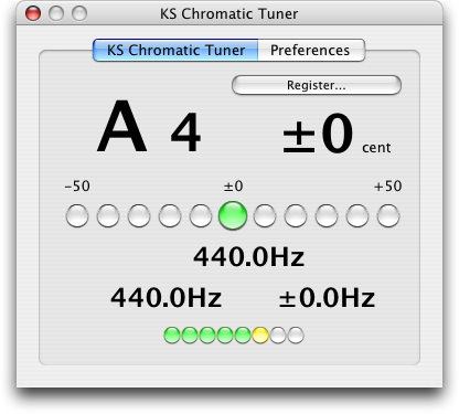 ks chromatic tuner au screenshot