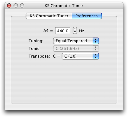 ks chromatic tuner au prefs screenshot