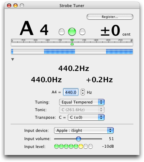 strobe tuner screenshot