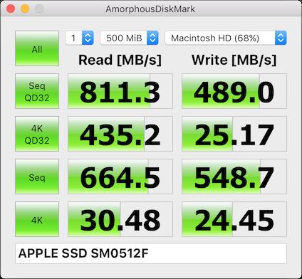 AmorphousDiskMark for macOS - measures storage read/write